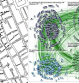 John Snow's clustering of cholera deaths (left).  Twitter tweet map (right)
